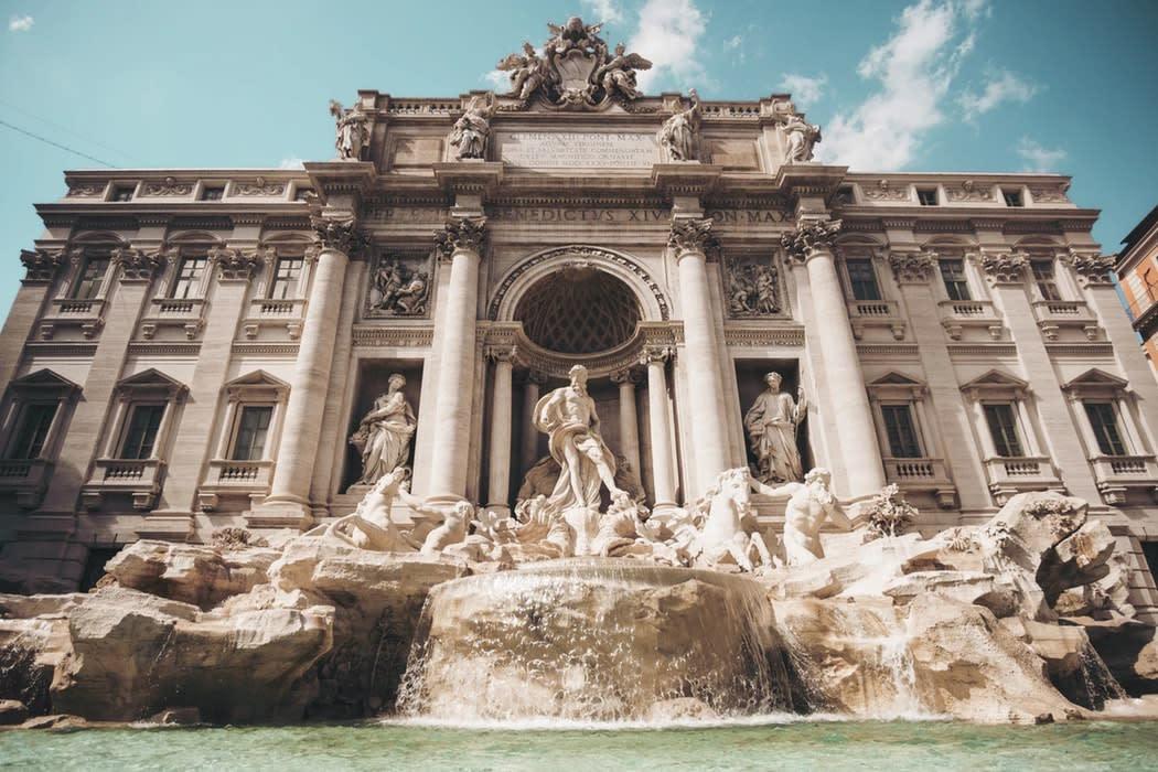 Trevi Fountain in Italy