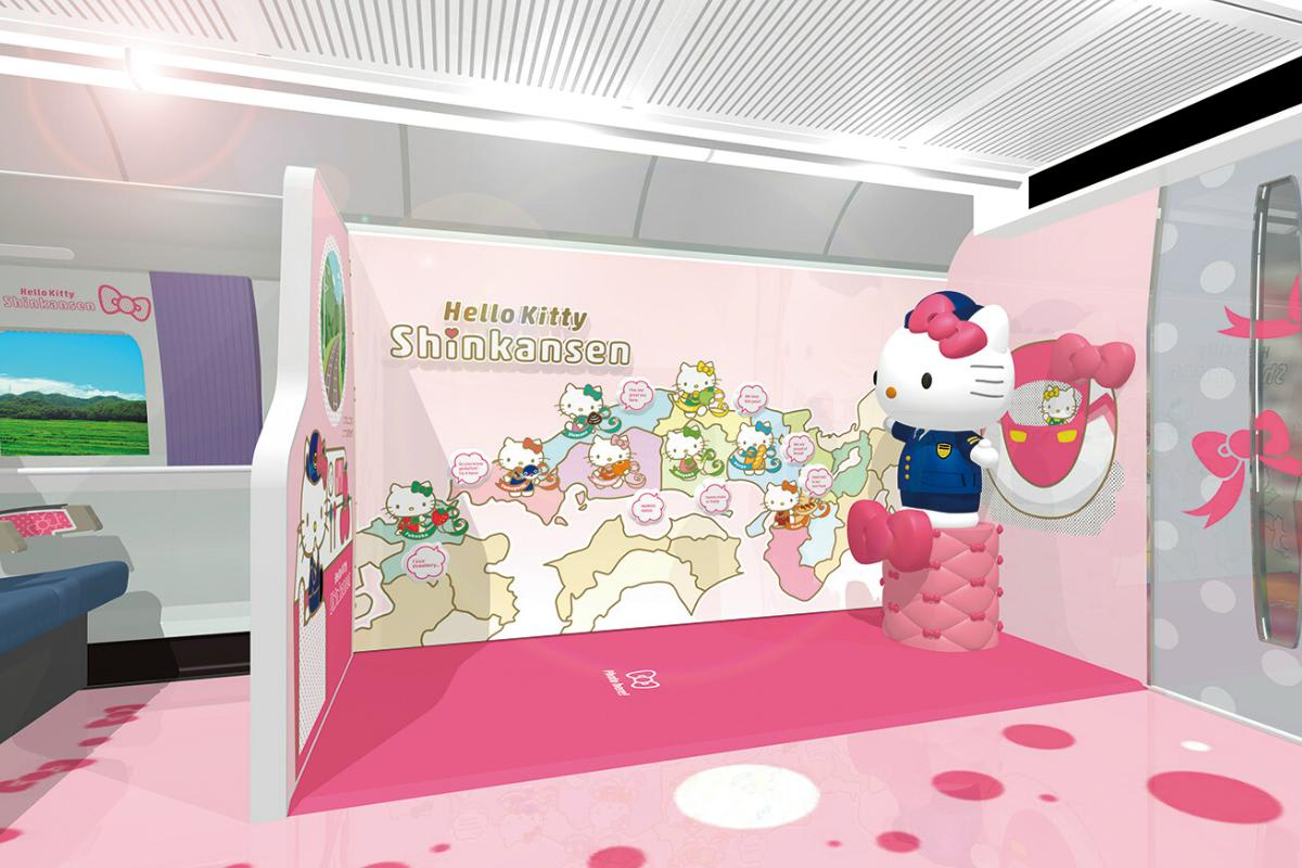 hello kitty shinkansen japan