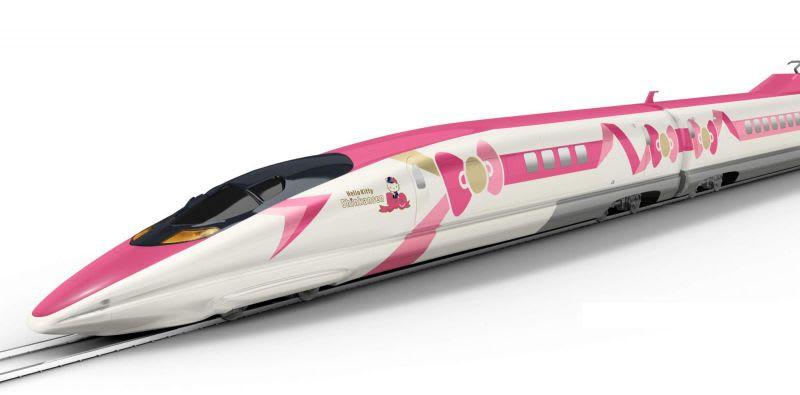 hello kitty shinkansen train japan