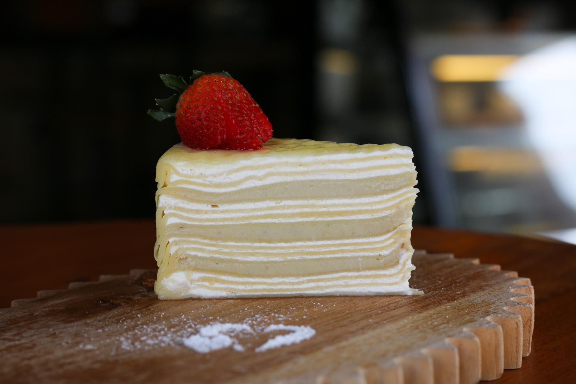 Double Durian Mille Crepe Durian Cake Singapore