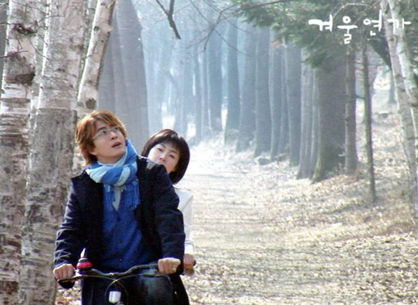 Nami Island in Winter Sonata