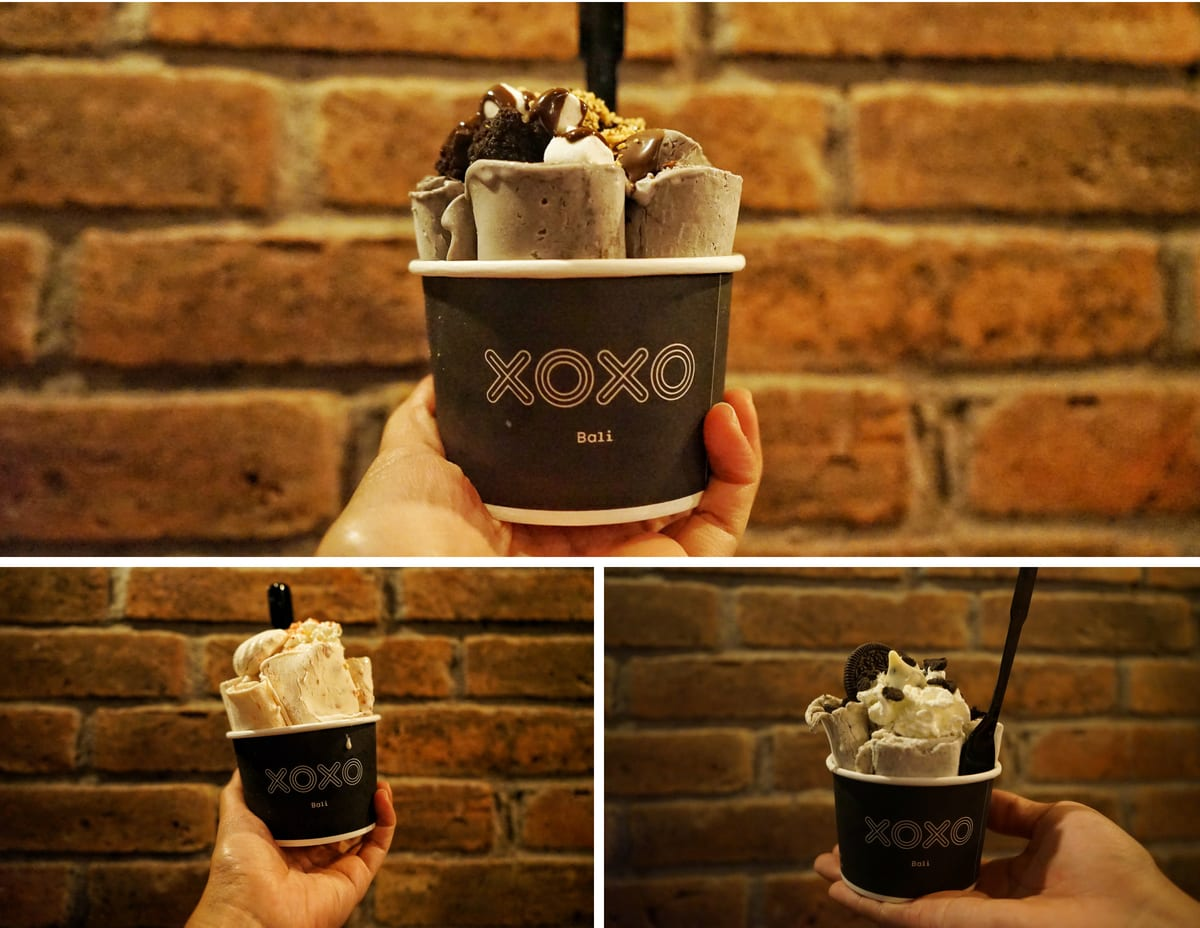 xoxo ice cream rolls