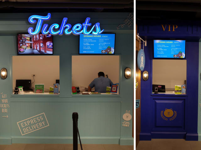 Ticketing counters at LINE Village Bangkok