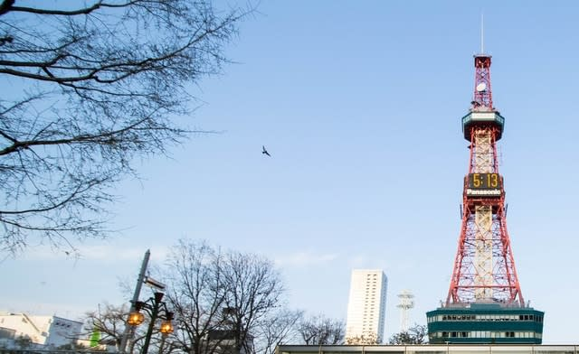 Off peak Sapporo TV Tower