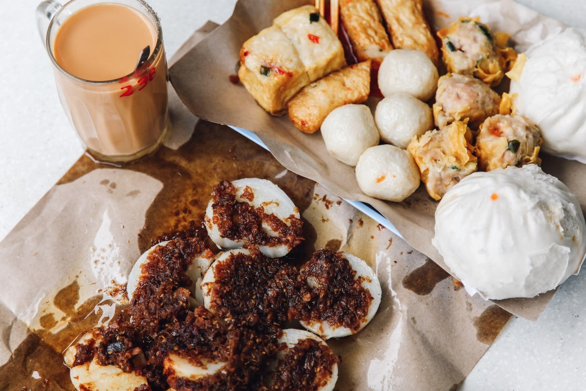 tiong bahru market jian bo shui kueh, tiong bahru fish balls, tiong bahru pau