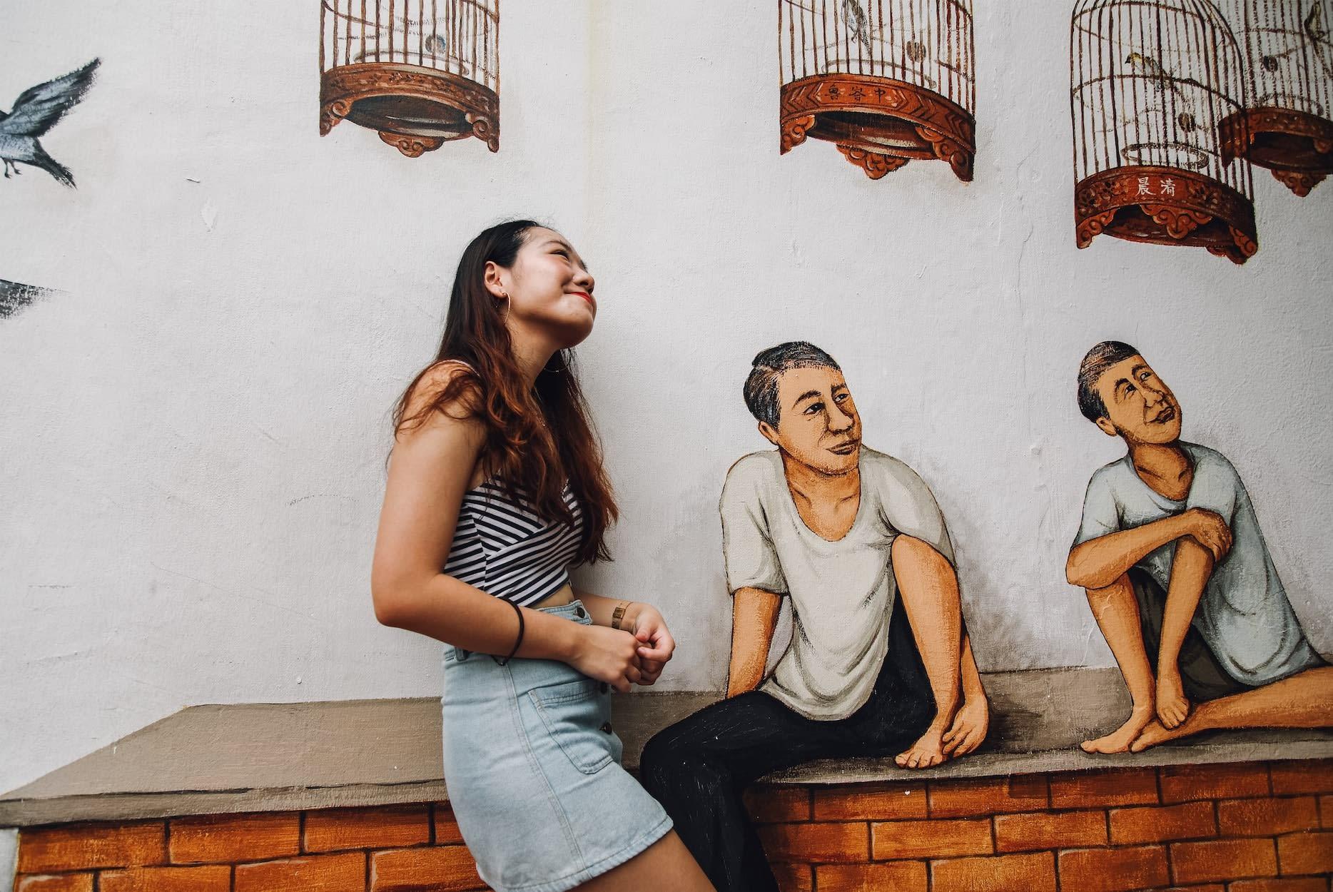 Tiong Bahru murals, singing bird corner