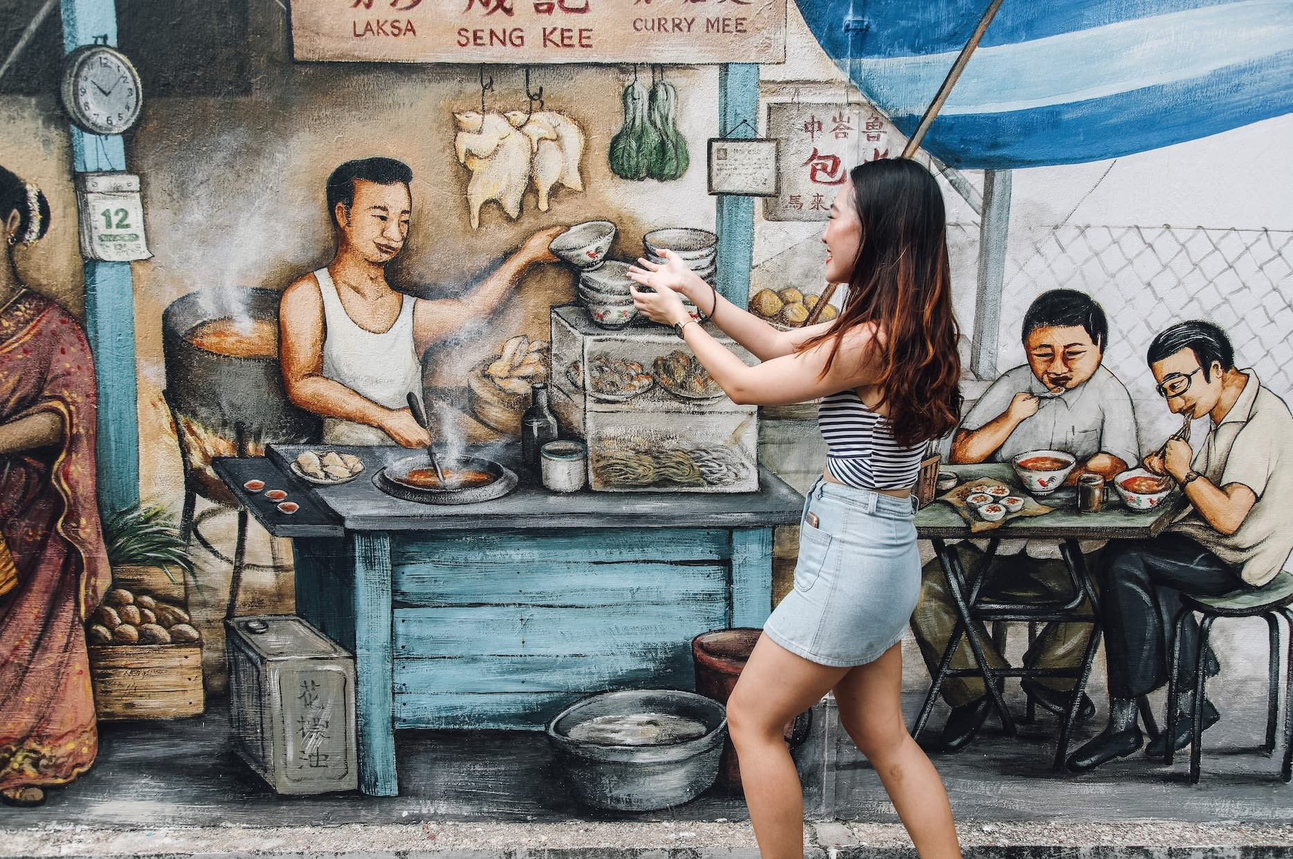 Tiong Bahru murals, pasar and the fortune teller