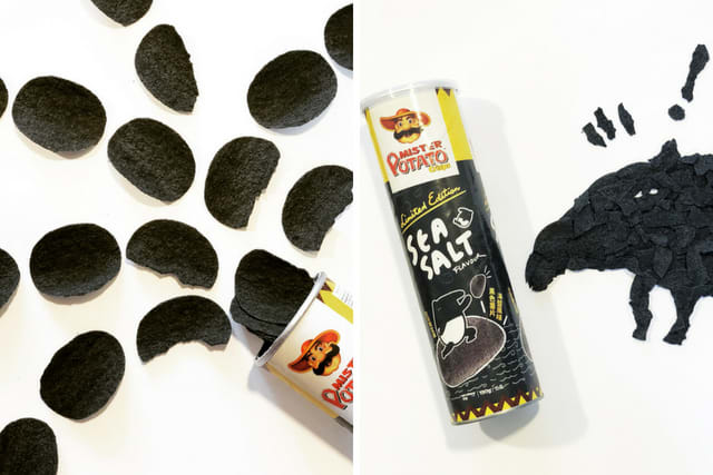 Sea Salt Flavoured Charcoal Chips