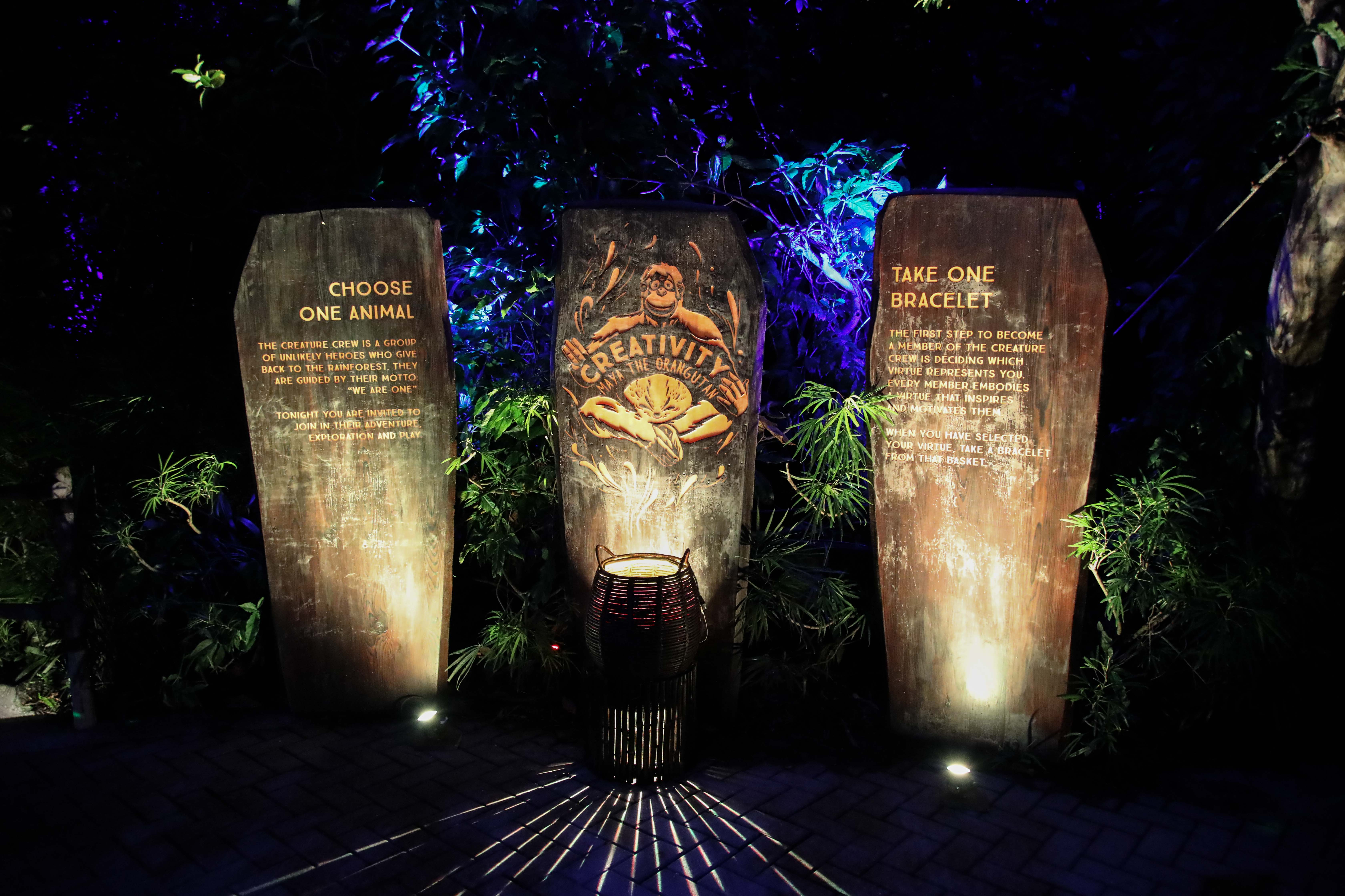Rainforest Lumina Garden of Virtues Singapore Zoo