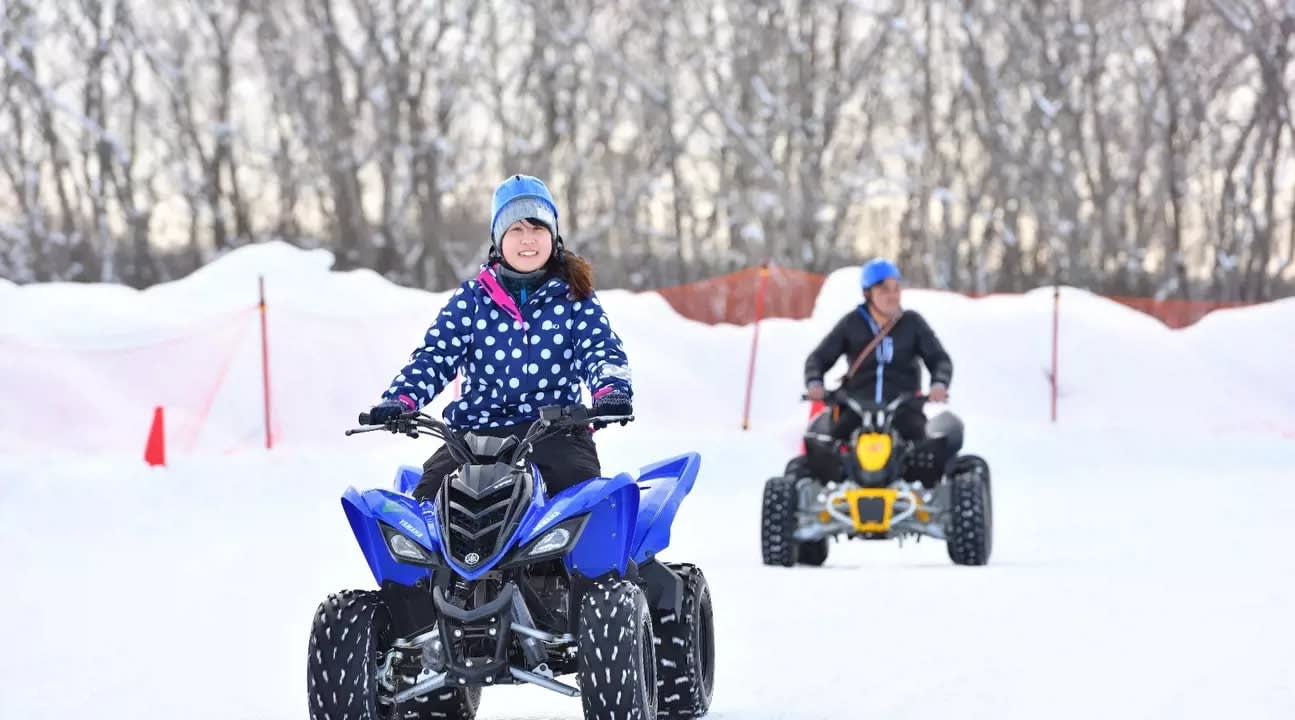 snow activities in Hokkaido