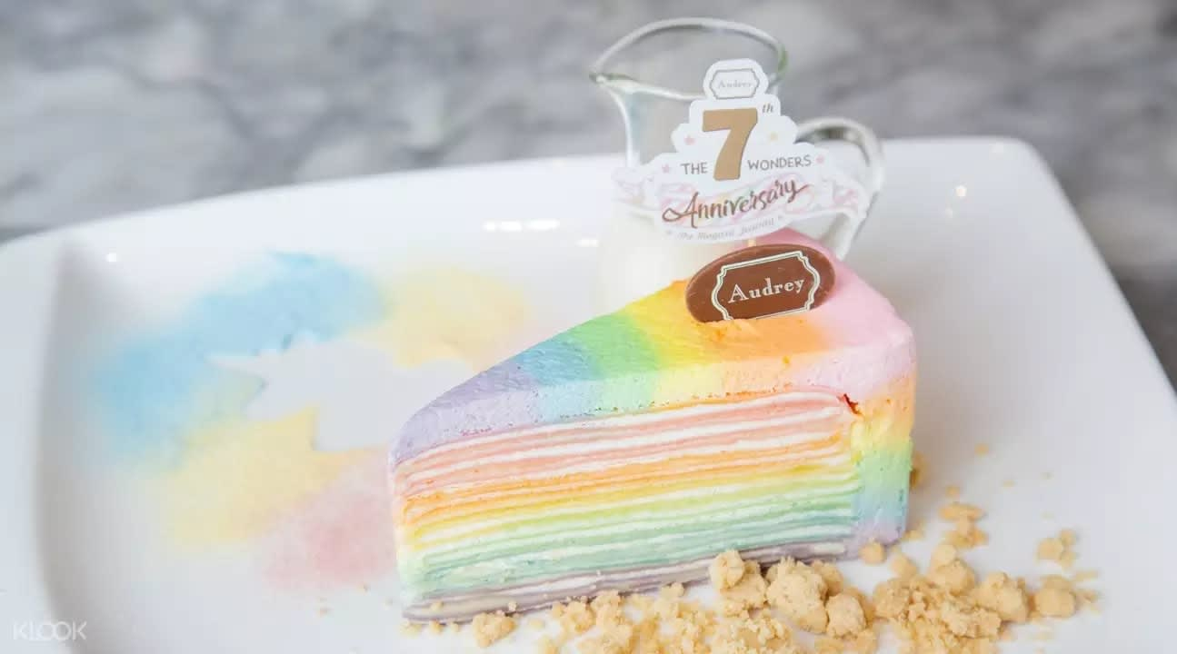 Rainbow cake at Audrey Cafe and Bistro