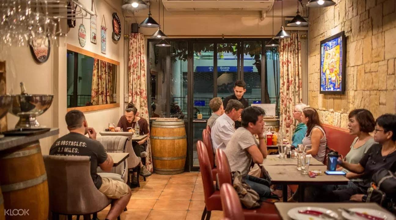 Restaurant interior at Arnold's Suanplu