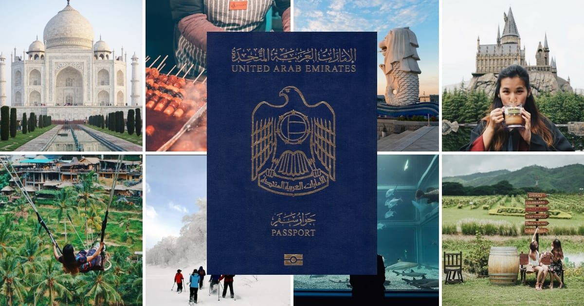 UAE Passport Cover Image