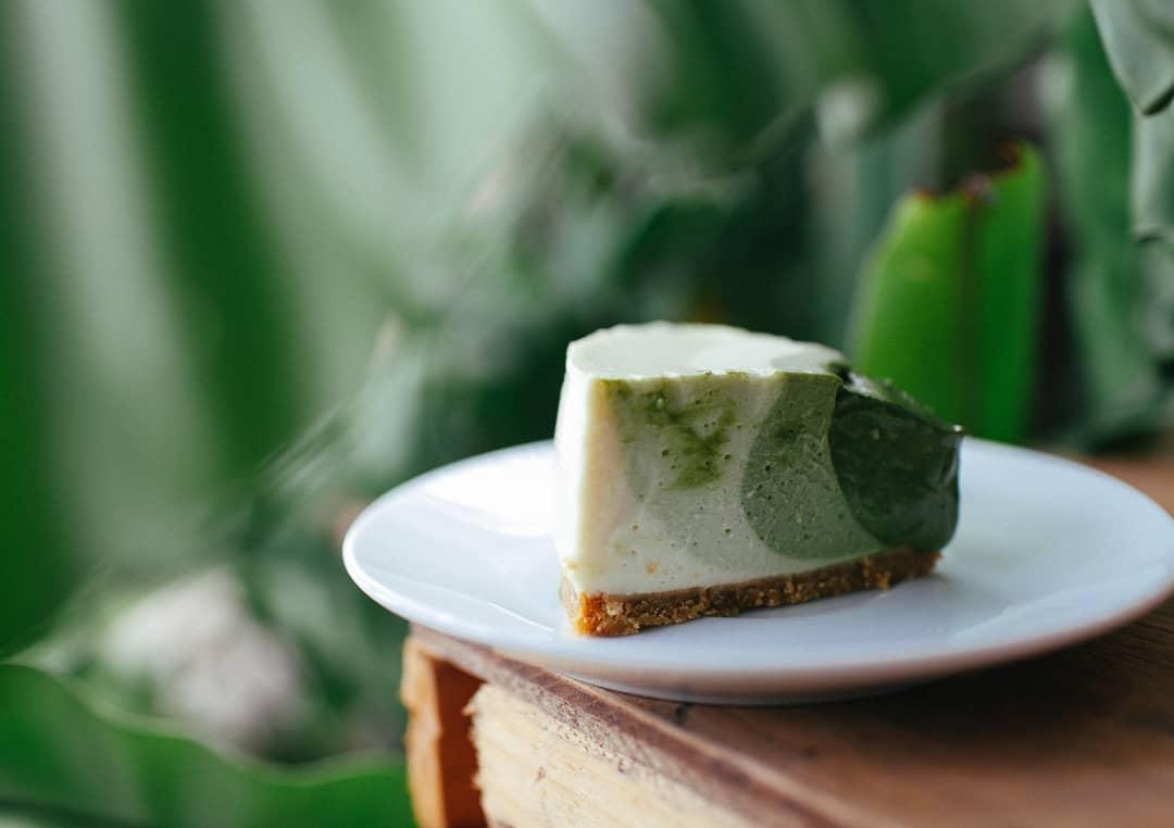 Joies Cafe Matcha Tofu Cheesecake