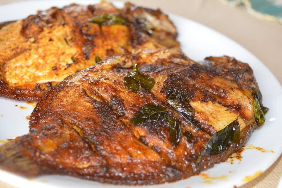 best penang hawker food ikan bakar