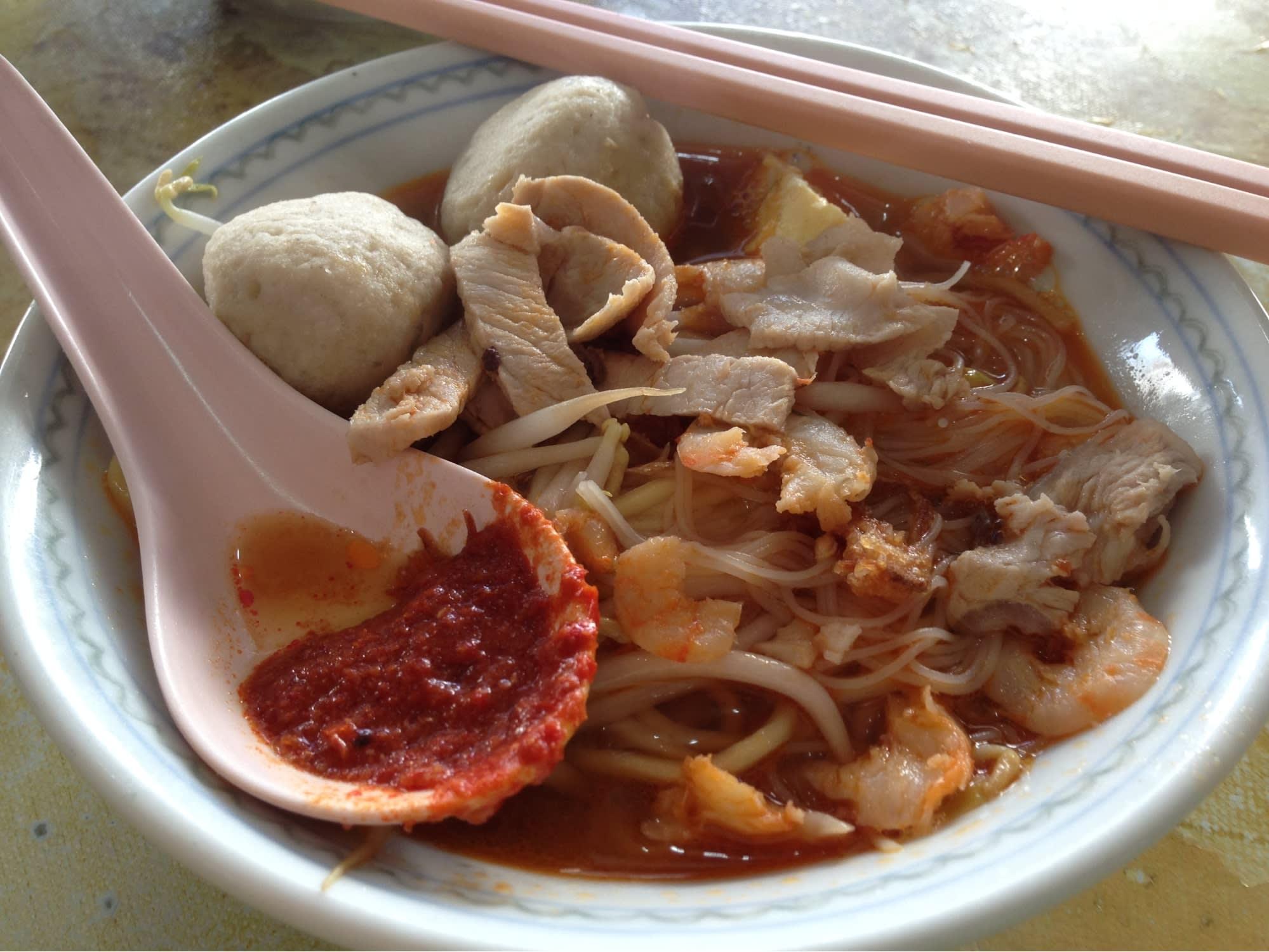 best penang hawker food hokkien prawn noodles