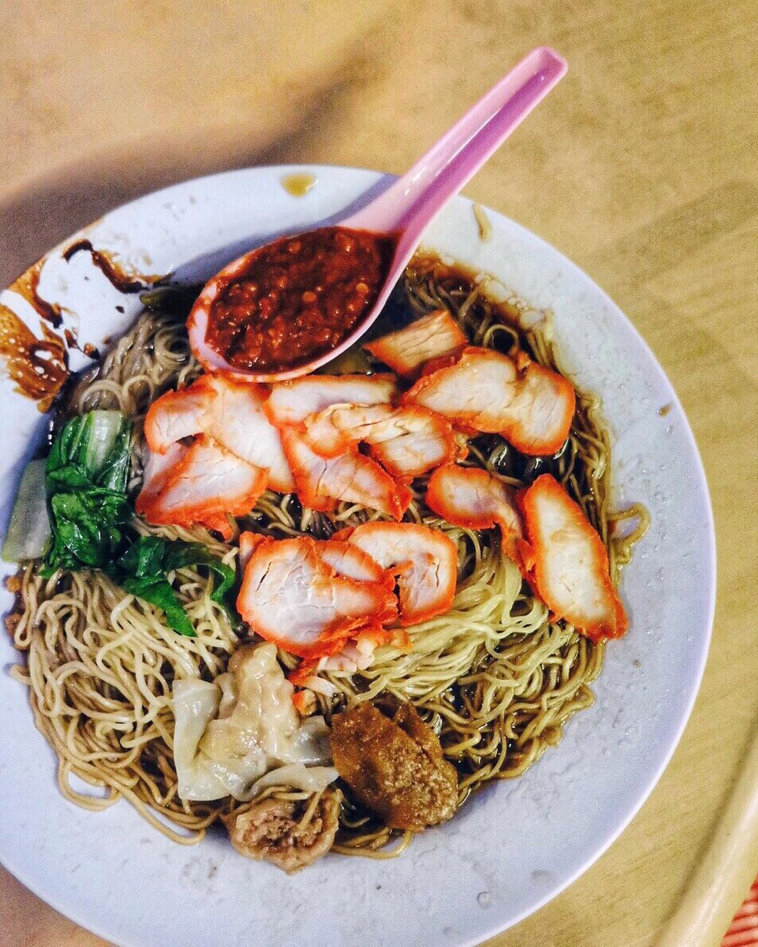 best penang hawker food lebuh chulia wantan noodles
