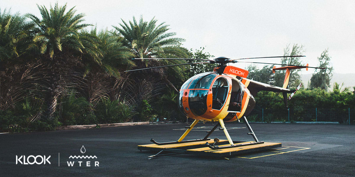 Helicopter charter for Bon Island