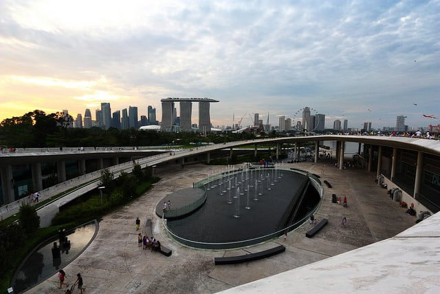Marina Barrage Water Features