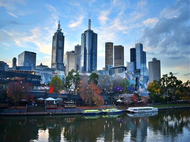 Melbourne City Skyline Australia