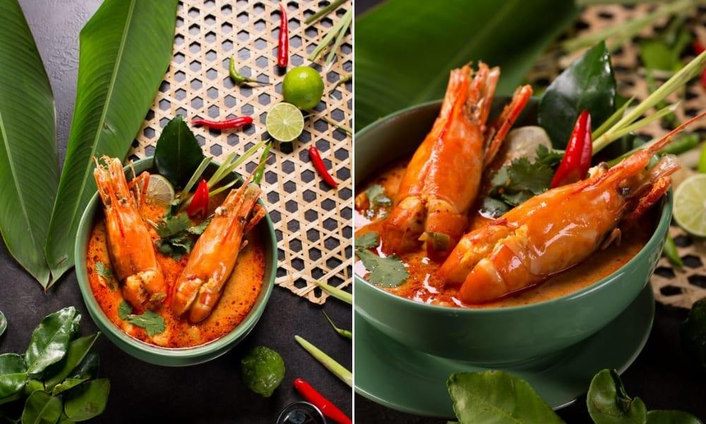 creamy tom yam seafood