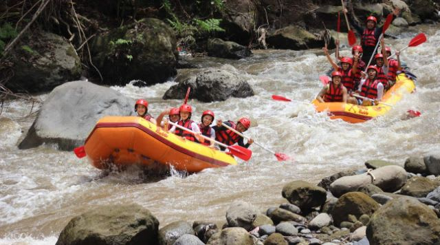 The top things to do in Bali - Ayung White Water Rafting with Red Paddles