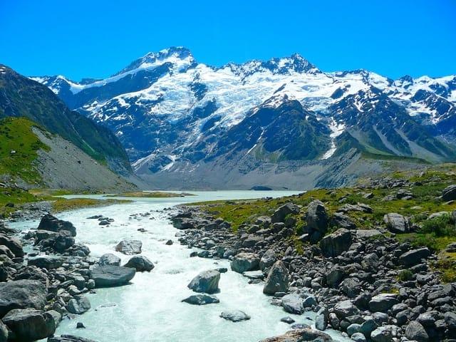 New Zealand Mount Cooking Alpine River