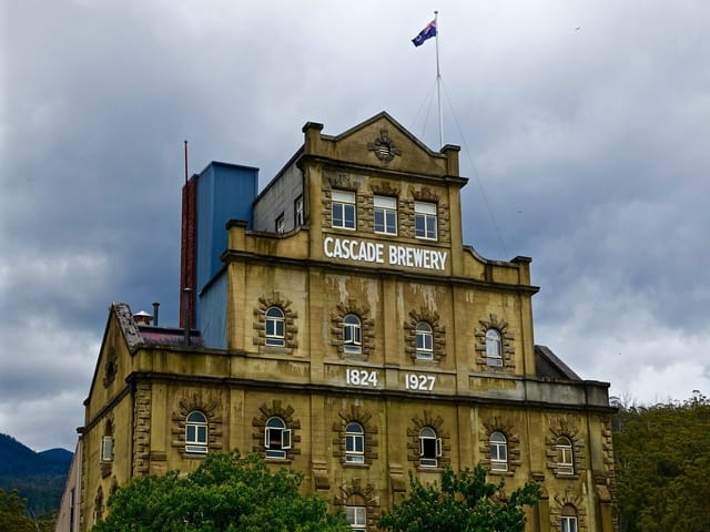 Top things to do in Tasmania Australia - Brewery Hobart Building Stone