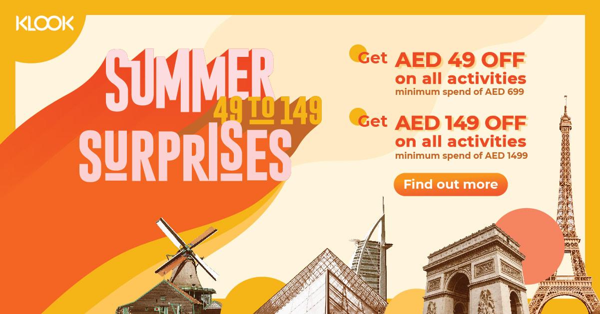 Klook UAE Summer Surprise