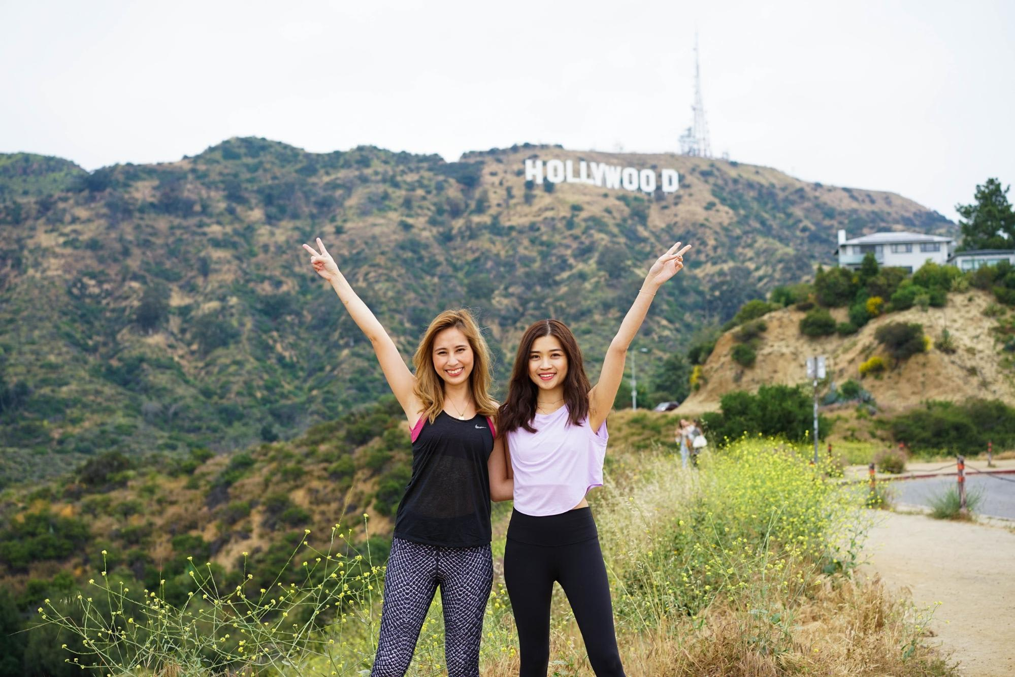 Photograph with the Hollywood Sign along Mulholland