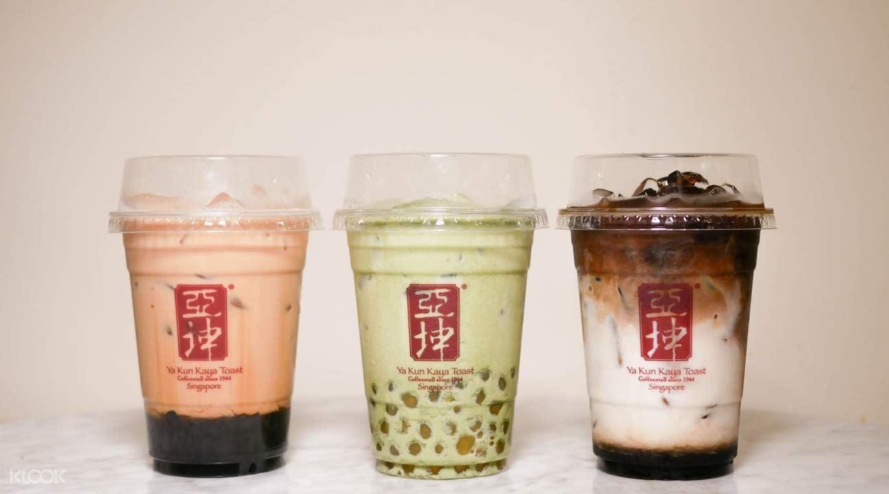 ya kun bubble tea milk tea