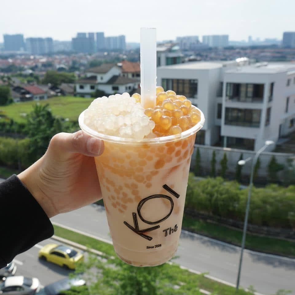 koi golden bubble milk tea