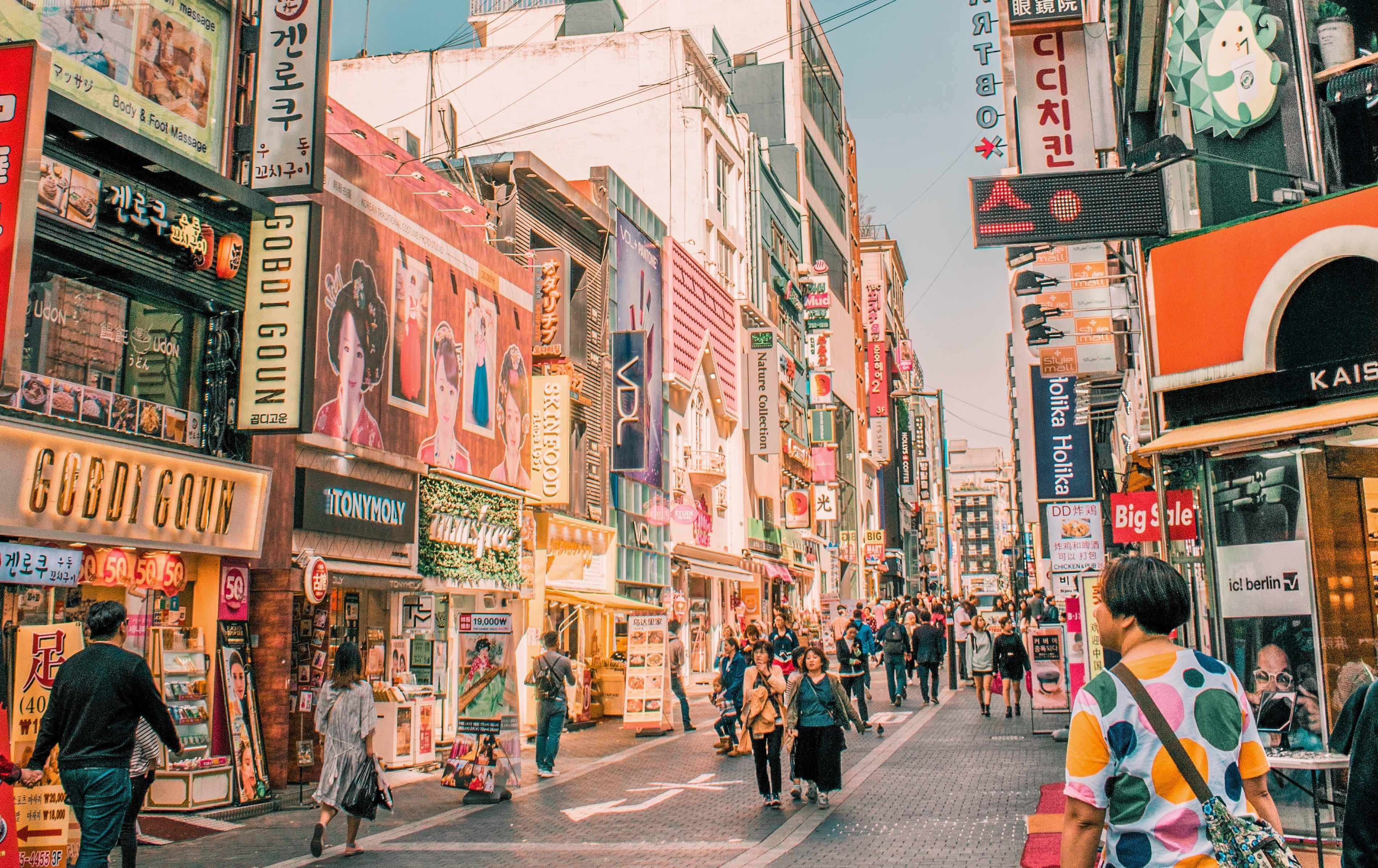 myeongdong shopping