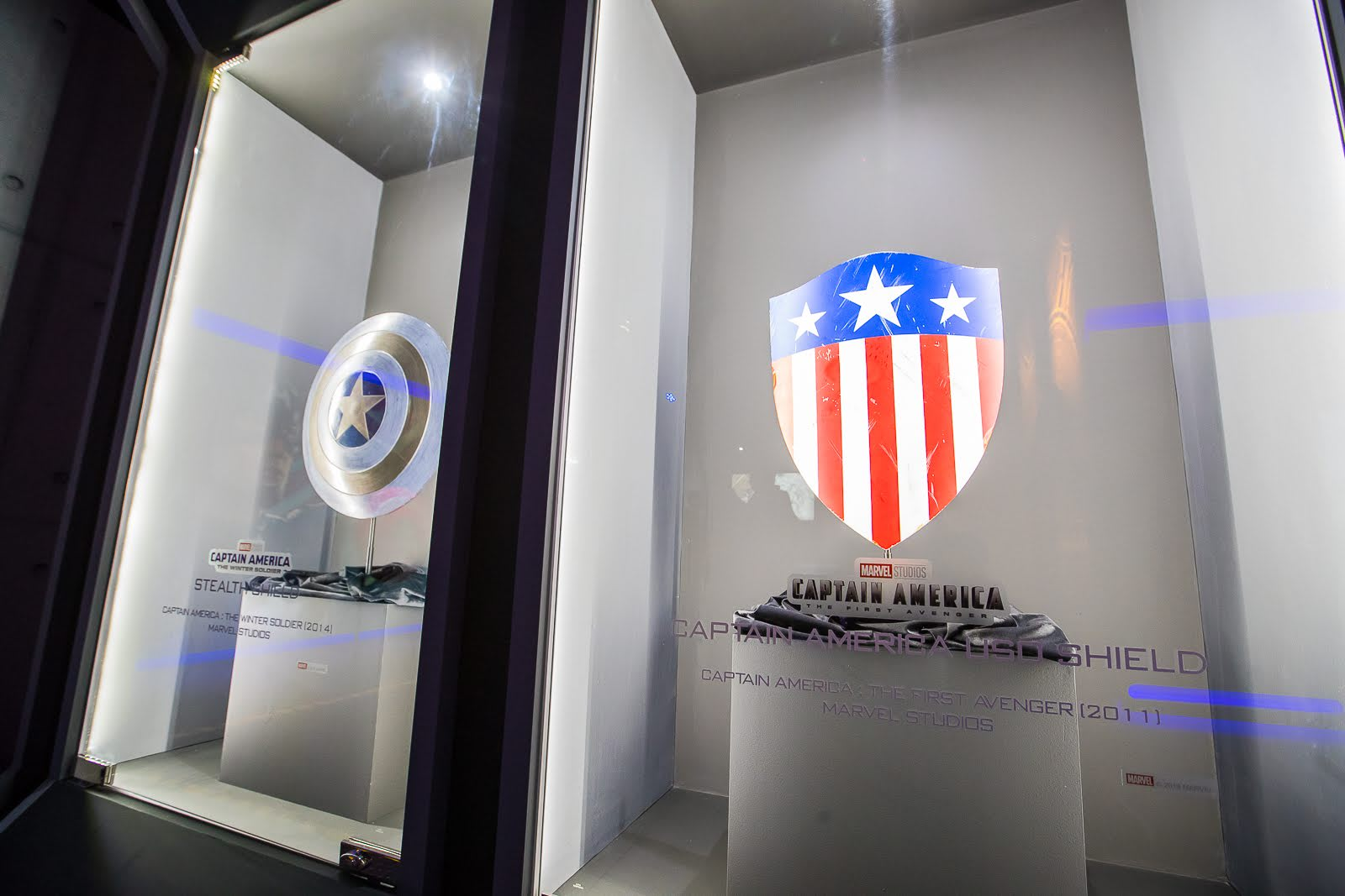 marvel exhibition captain america shield movie prop