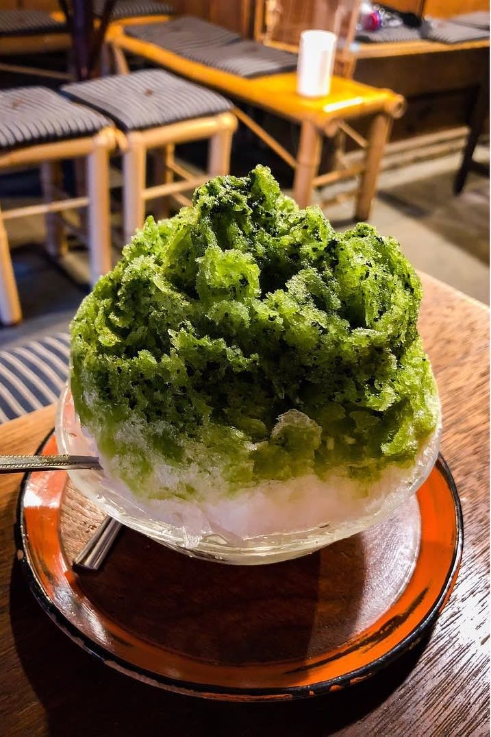 shaved ice green tea kyoto