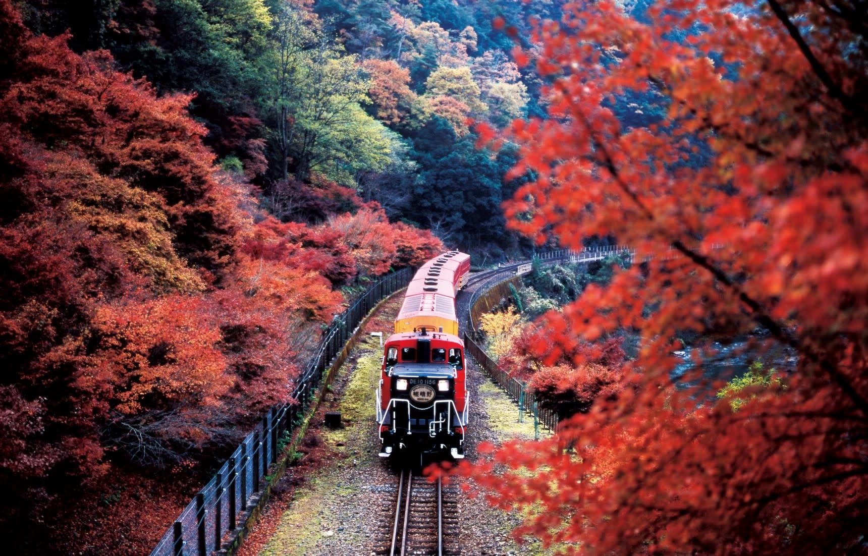 japan-autumn-sagano-romantic-train