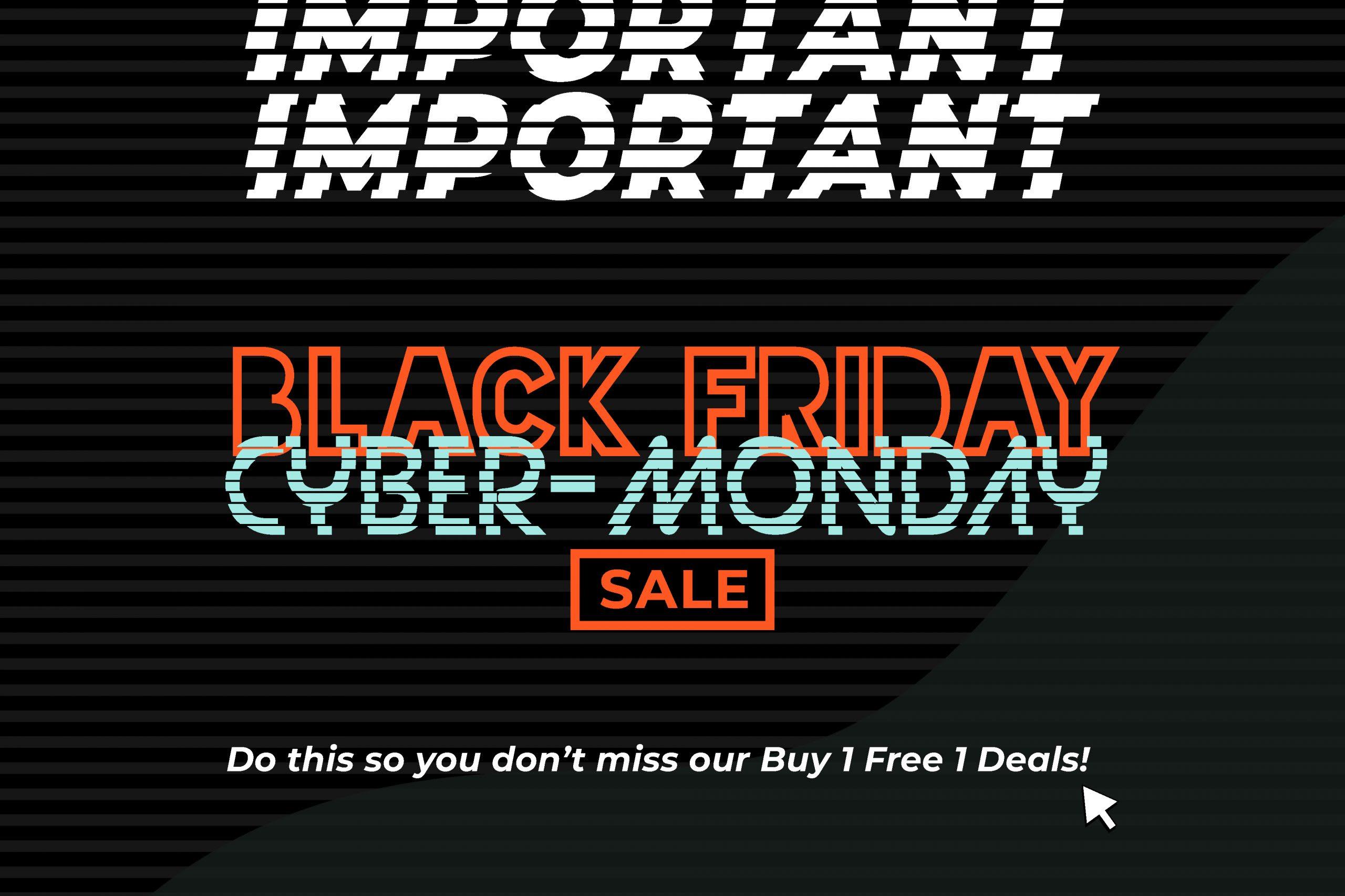 friday sale so black