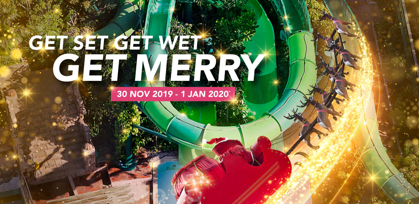 Adventure Cove Waterpark - Get Set Get Wet Get Merry