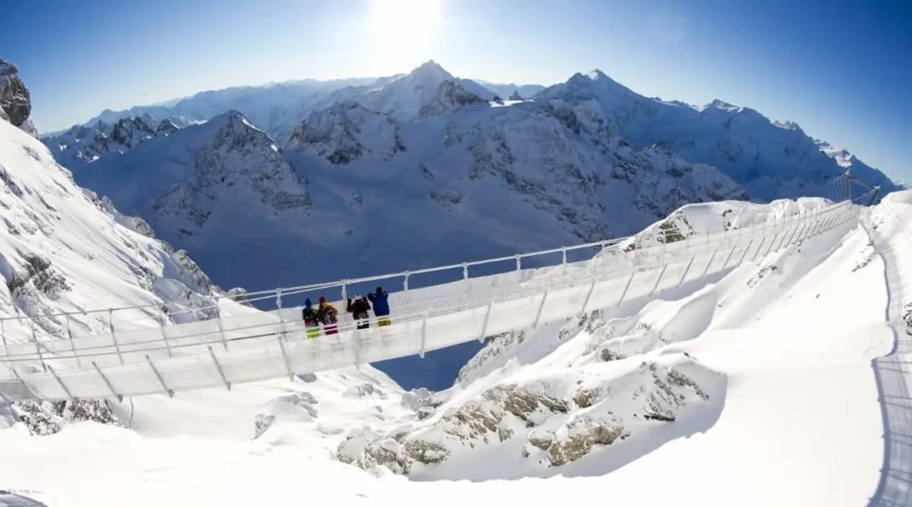 Cliff walk on Mount Titlis Switzerland