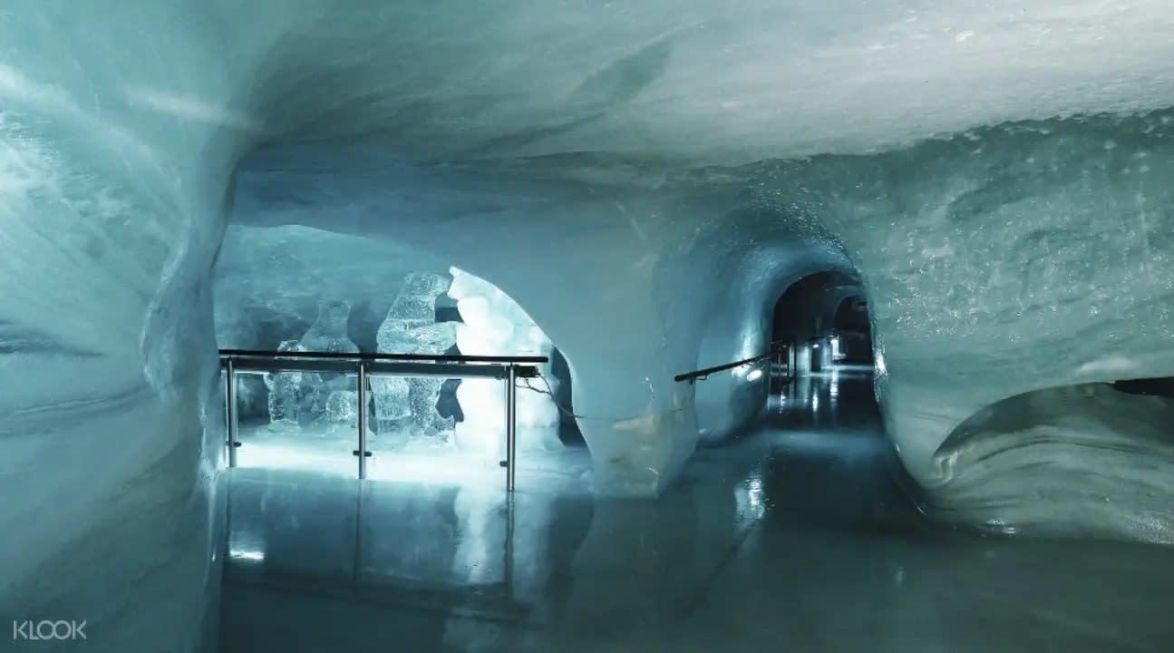 Ice cave in Jungfraujoch Switzerland