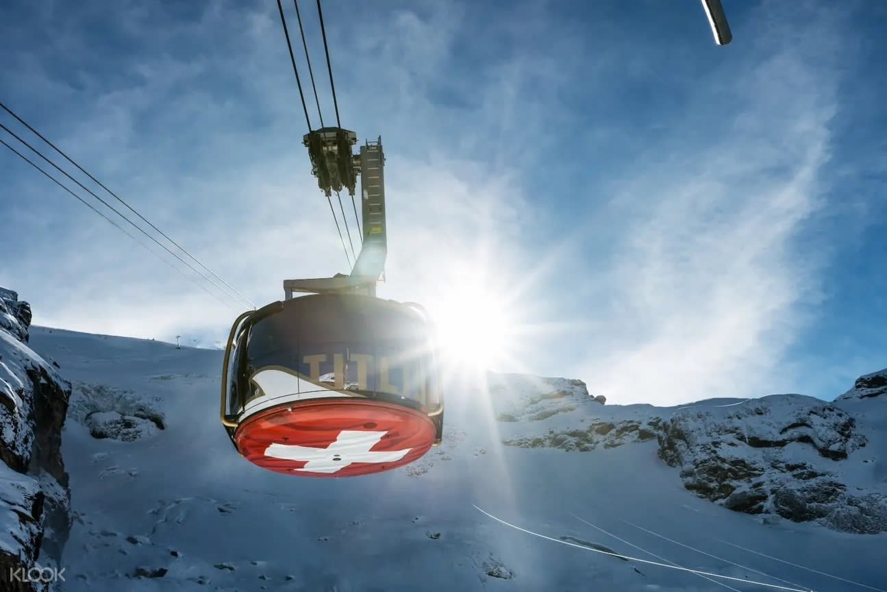Revolving cablecar in Engelberg Switzerland