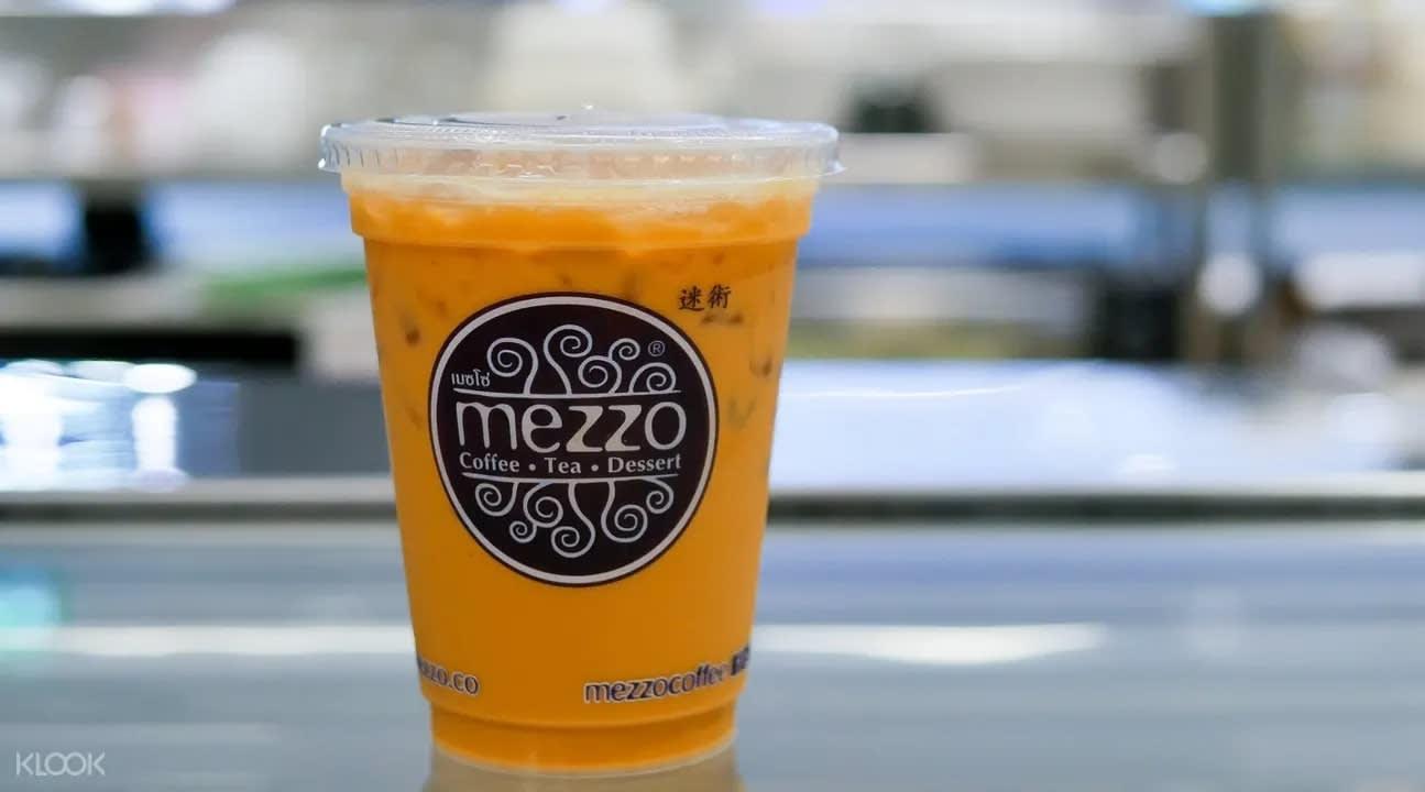 Thai milk tea from Mezzo Coffee