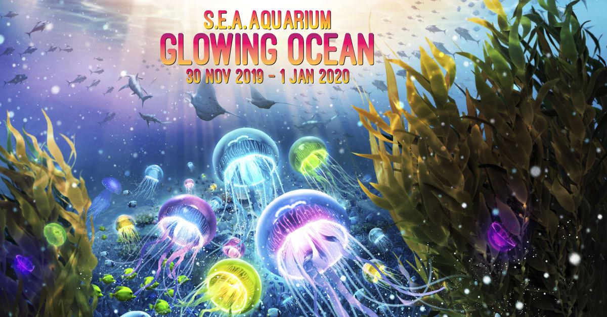 sea aquarium glowing ocean