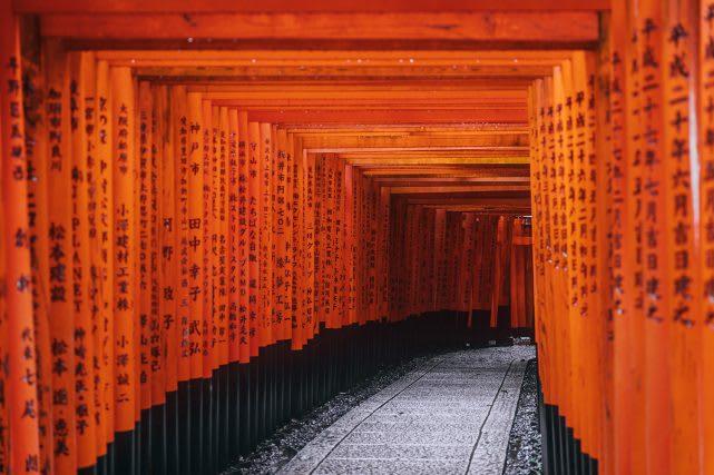Kyoto Fushimi Inari Shrine Torii Gate