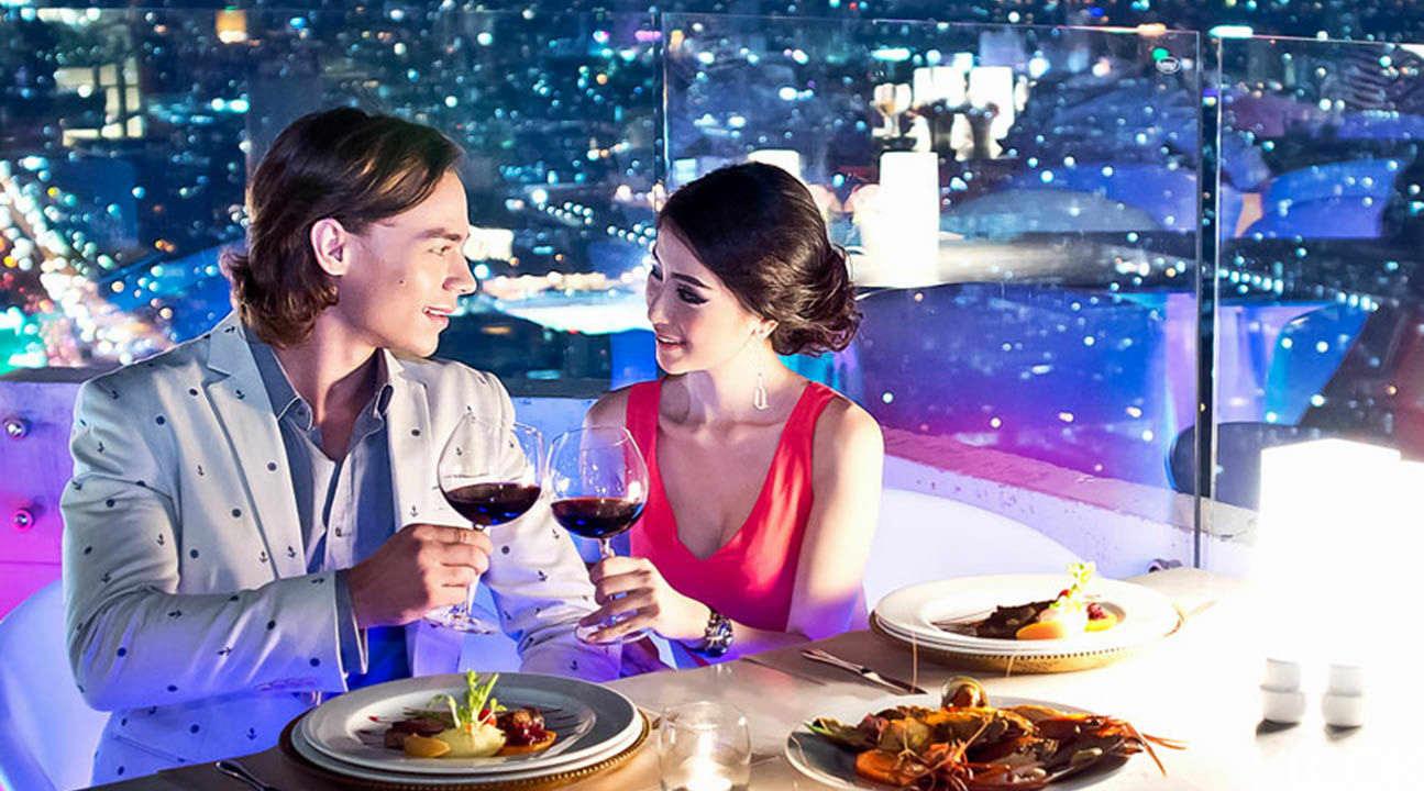 bangkok rooftop dining, bangkok buffet, baiyoke bangkok restaurant, what to do in bangkok, bangkok dinner