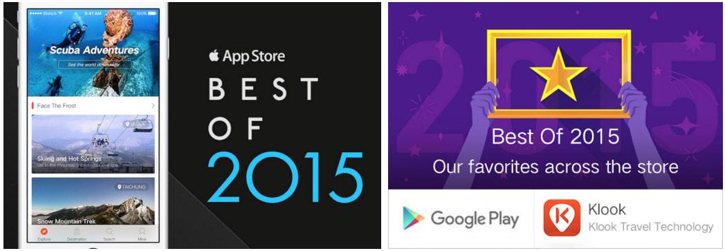 Klook Best of 2015 Apps