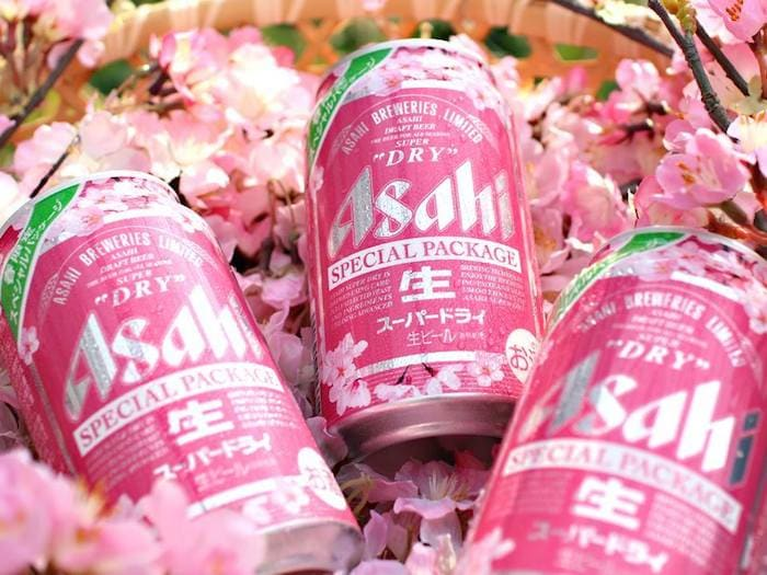 Asahi beer cherry blossom package