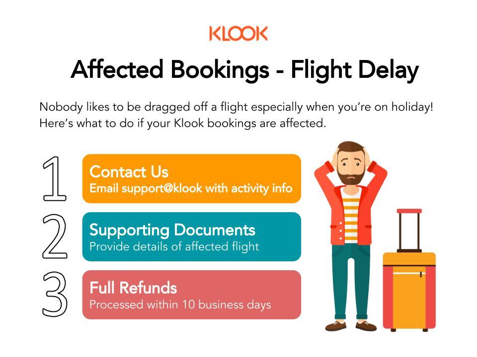 Klook Flight Delay Support