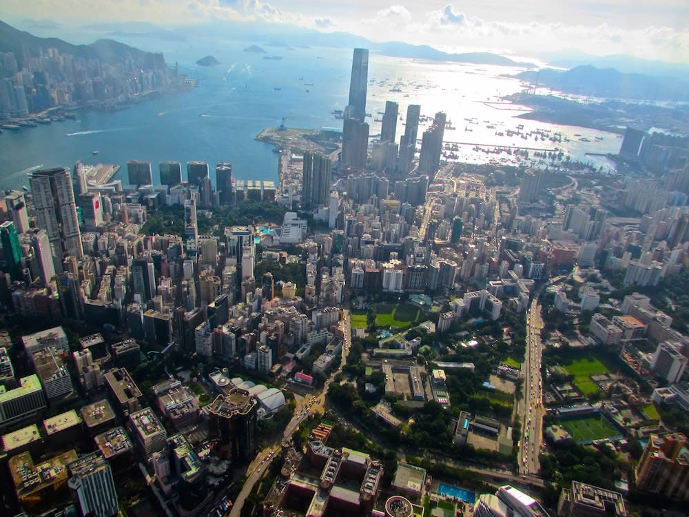 Kowloon Hong Kong from above