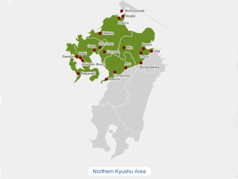 Northern Kyushu Map